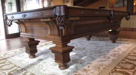 "Stunning restoration of ""The Jewel"" an antique billiards table"