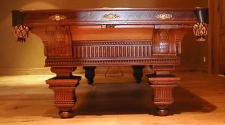 Oak Version: The Jewel, Restored Brunswick antique pool table