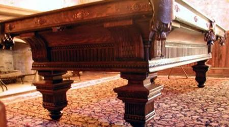 The Jewel, an orginal antique billiard table restored by Billiard Restoration Service