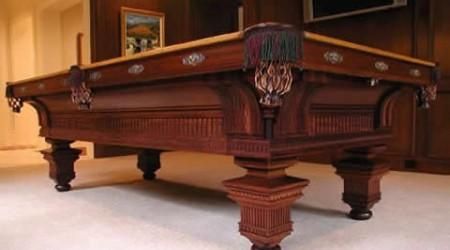 Mahogany Version: Restored Jewel, an antique billiards table