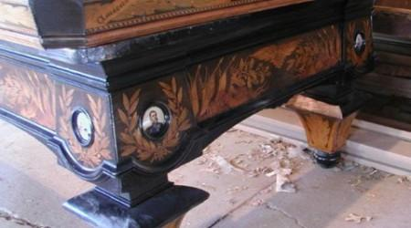 Exquisite detailing of a Kaiser Wilhelm pool table