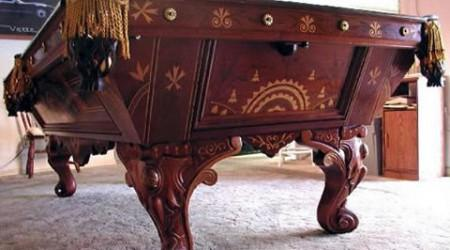 August Jungblut Rococo pool table, restored