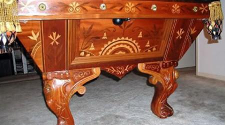 Refinished August Jungblut Rococo pool table