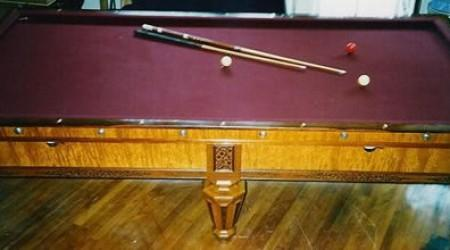 Kavanagh & Decker antique billiards table with fretwork