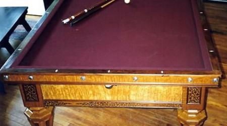Fully restored Kavanagh & Decker pool table