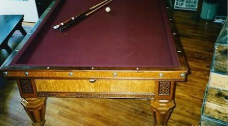 Fully restored antique Kavanagh & Decker pool table