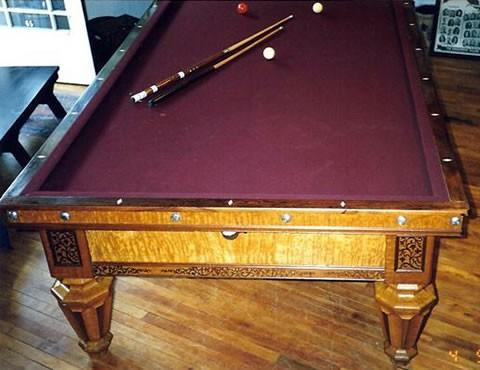 brunswick antique pool table serial number
