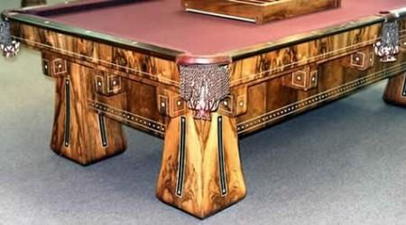 The Kling, restored antique pool table