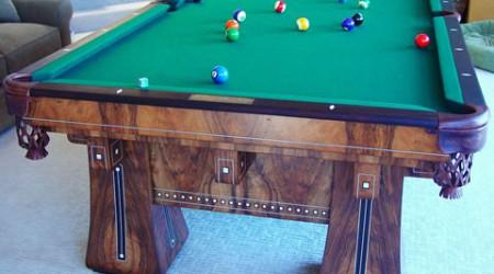 Sturdy antique billiards table, The Kling