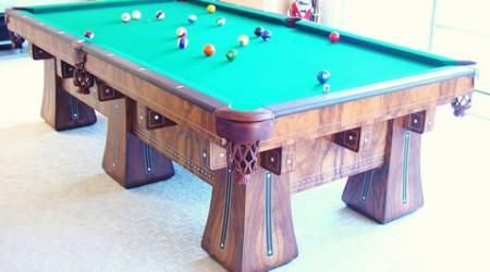 The Kling, restored antique billiards table