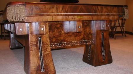 Kling, a restored antique billiard table