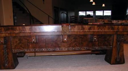 A full restored Kling, antique pool table