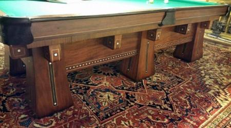 Antique restoration of an antique Kling billiards/pool table