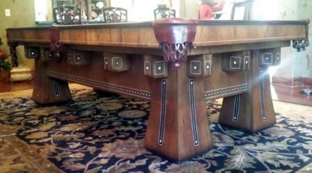 Fully restored antique The Kling billiard table