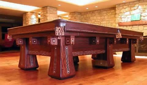 The Kling Restored Brunswick Antique Pool Table For Sale