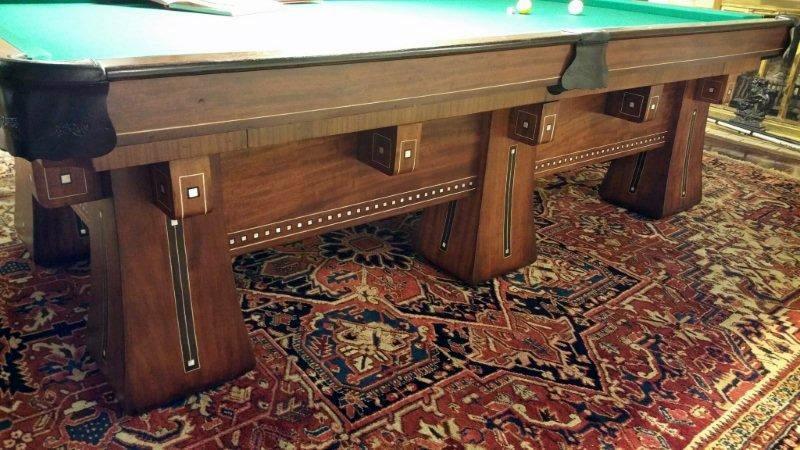 Merveilleux ... Antique Restoration Of An Antique Kling Billiards/pool Table ...