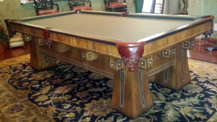 The Kling Antique Billiard Pool Table Restored By Brunswick