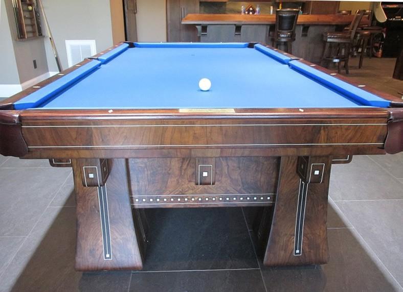 ... Restored Kling Pool Table ...