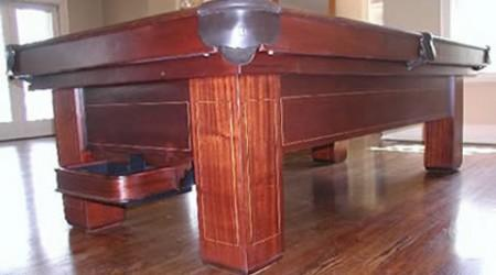 The Madison, antique billiards table prior to restoration