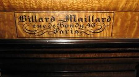 Fully restored The Maillard, antique pool table