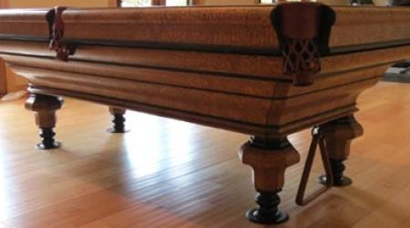 After restoration, The Maillard antique pool table