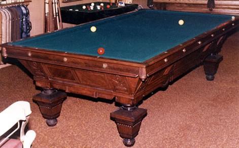 The Manhattan Restored Antique Billiard Table - Brunswick manhattan pool table