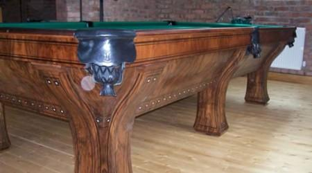 The Marquetee, a fully restored antique billiard table by Biliard Restoration Services