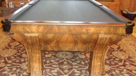 Antique pool table, The Marquette