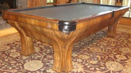 Full restoration of antique billiards table, The Marquette