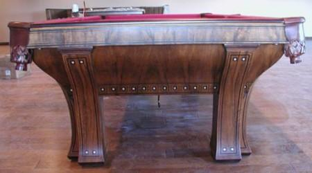 Antique billiards table, The Marquette, post restoration