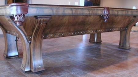 Side view - The Marquette pool table, antique
