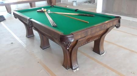 Professional restored Marquette billiards table