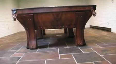 The Marquette by Brunswick, antique billiards table