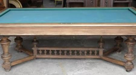 The Marseille - an antique billiards table before restoration