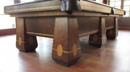 Professional restoration of antique Medalist billiards table