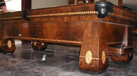 ea97bd91ed96 A restored Brunswick Medalist antique billiard table