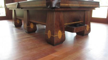 Antique restoration of The Medalist billiards table