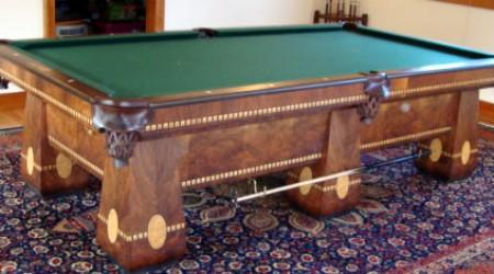 Antique Brunswick Medalist pool table, restored