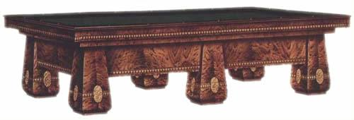 Brunswick's orginal catalog image of the Medalist pool table