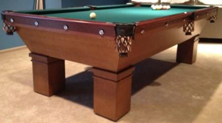 Restored antique Mikado pool table