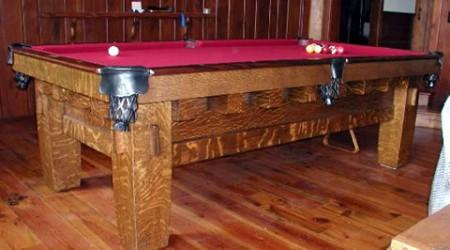 "Restored antique pool table, Old Mission Style ""B"" for sale"