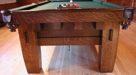 "Old Mission ""Style B"" antique billiards table"