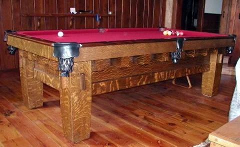 The Old Mission Style B Antique Billiard Table