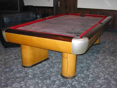 The moderne a brunswick billiards pool table antique - Billard table moderne ...