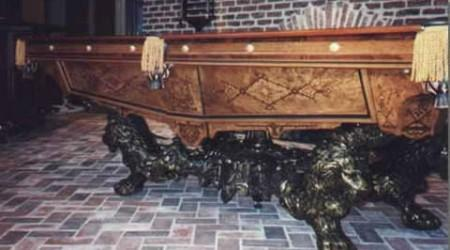 The Monarch, restored pool table