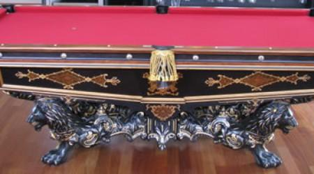 The Monarch, restored antique pool table by Billiard Restoration