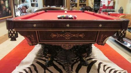 "Professionally restored ""The Monarch"" pool table"