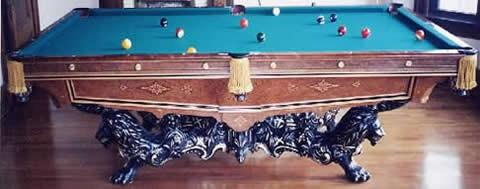 The Monarch An Antique Pool Table Billiards By Brunswick - Brunswick monarch pool table