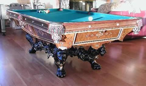 The Monarch An Antique Pool Table Billiards By Brunswick