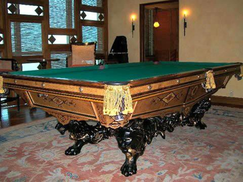 Antique Brunswick Pool Billiards Table